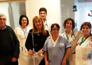 Otto piantane porta flebo per la Pediatria d'urgenza del Maggiore