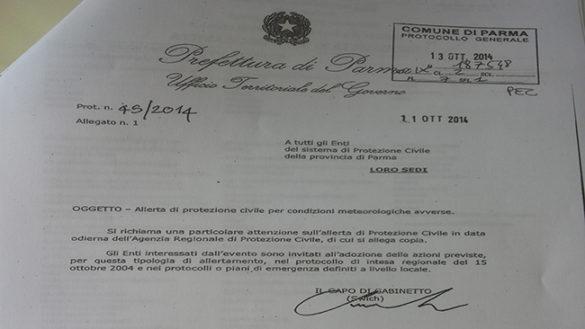 Alluvione 2014, il fax di allerta ignorato dal Sindaco