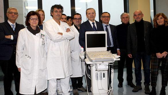 Fondazione Monteparma: un ecografo all'avanguardia per i medici del Maggiore