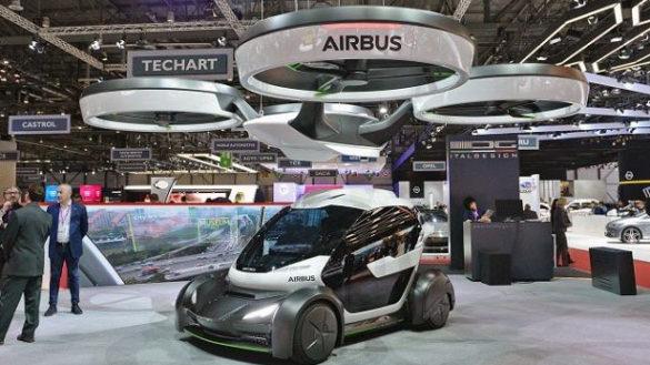 L'auto che si aggancia al drone presentata al Salone di Ginevra