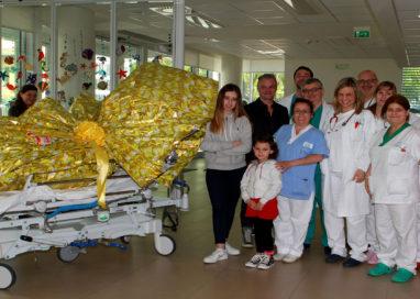 Arriva l'uovo di Pasqua di 30 chili per i piccoli pazienti di Pediatria