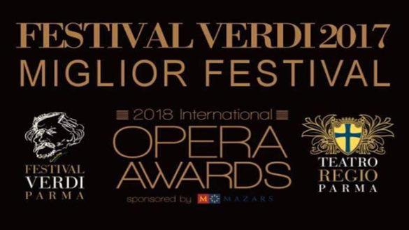 Festival Verdi 2017 premiato a Londra come migliore al mondo!