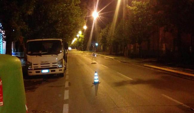 """""""Viale Piacenza, cartelli e conetti spostati e non visibili, fate attenzione"""""""