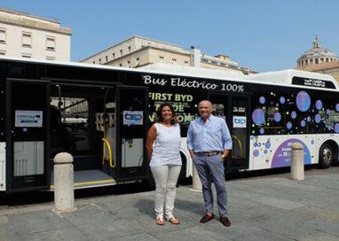 Il bus elettrico ha fatto tappa in piazza Garibaldi!
