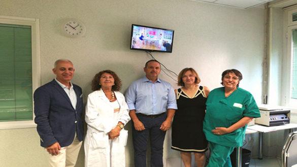 Donata una TV per il Centro dialisi dell'Ausl in via Pintor