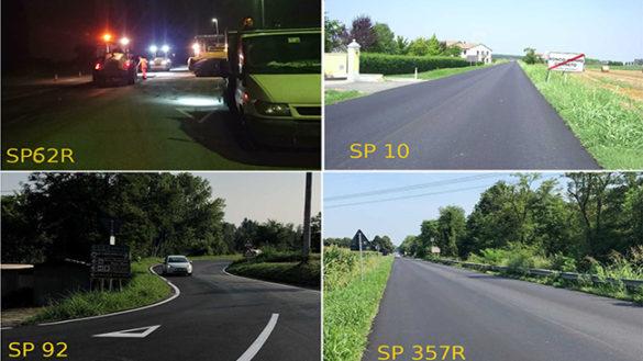 Provincia: asfaltate 14 strade in zone di pianura
