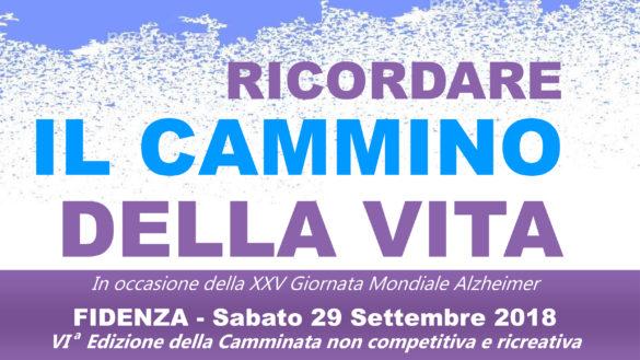Una camminata per l'Alzheimer, il 29 settembre a Fidenza