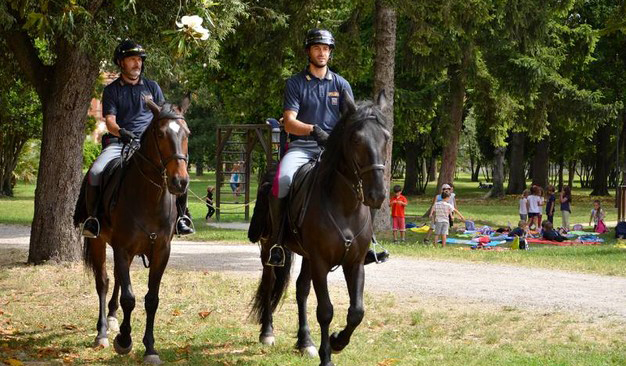 I controlli al Parco Ducale: sequestri ed espulsioni