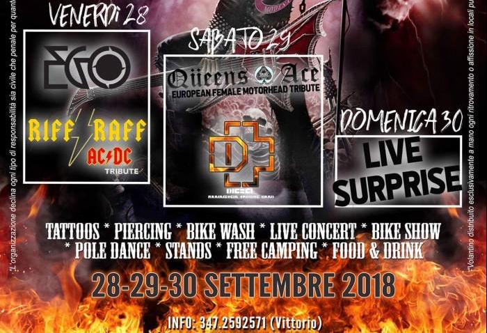 Motoraduni: tre giorni di rock e spettacoli a Campogalliano