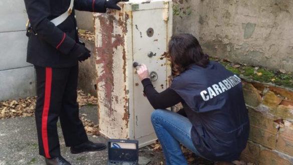 Salsomaggiore: Carabinieri trovano cassaforte rubata