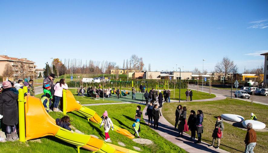 Inaugurato il nuovo parco in via Lagazzi a San Prospero