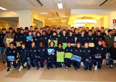 Le giovanili del Parma Calcio dai pazienti della Pediatria