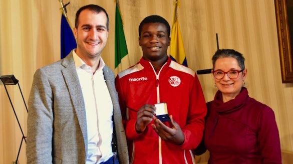 Il Vicesindaco Bosi riceve Henry Asare Owusu, campione italiano Esordienti U15 di Judo