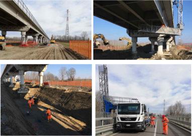 Ponte di Colorno: quattro squadre al lavoro