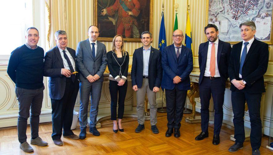 Visita di una delegazione serba in Municipio nell'ambito di uno scambio con CePIM