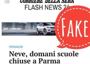A Parma scuole chiuse per neve… fake news!