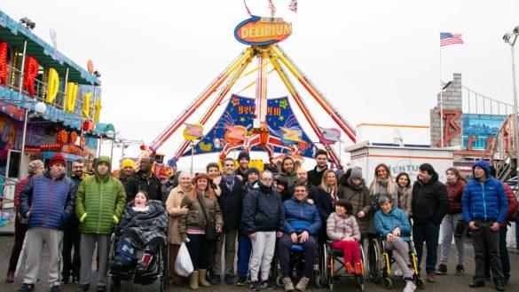 Una mattinata al Luna Park per i ragazzi con disabilità
