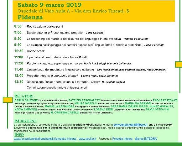 """Il progetto """"Integra"""" fa tappa a Fidenza con un convegno"""