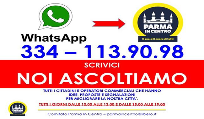Parma In Centro: attivo il contatto whatsapp a disposizione dei cittadini