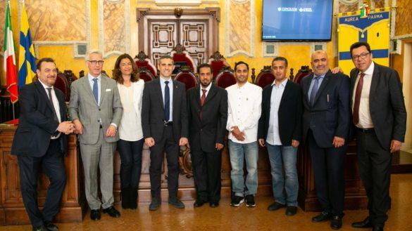 Delegazione Kuwait City in Municipio ricevuta da Pizzarotti e Benassi