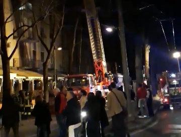"""Incendio a """"La Brace"""" di Via Abbeveratoia"""