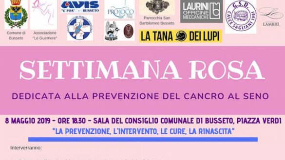 """""""Settimana rosa"""" a Busseto per la prevenzione del tumore al seno"""