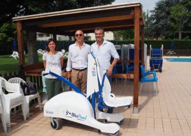 Piscina accessibile a Sala Baganza, installato un sollevatore per disabili