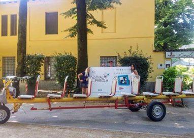 Al Festival della Parola a bordo del Taxi-Grillo