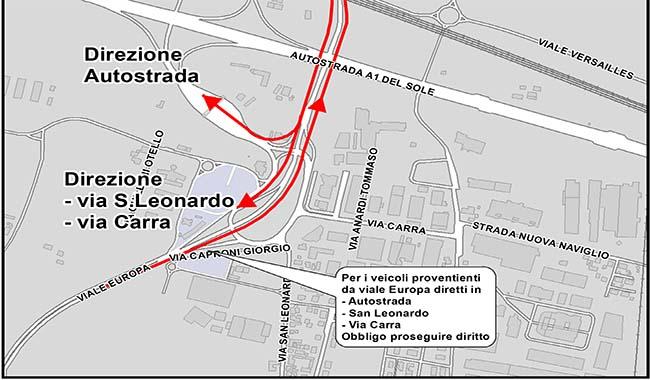 Via Europa, soluzioni anti-traffico in prossimità del casello A1