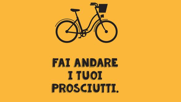 """""""Non fare il salame, usa la bici"""". Parte """"Pedaliamo di gusto"""""""