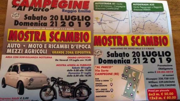 Mostra e scambio di moto ed auto d'epoca a Campegine