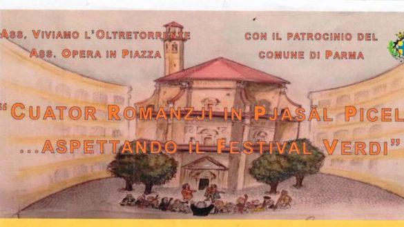 """""""Cuator Romanzi"""", l'opera di Giuseppe Verdi in piazzale Picelli"""