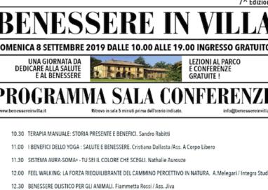 Domenica 8 Settembre torna Benessere in Villa