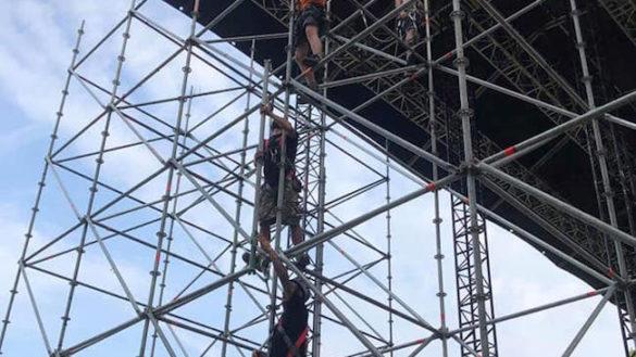 In Cittadella il palco prende forma: ci si prepara ai concerti di settembre