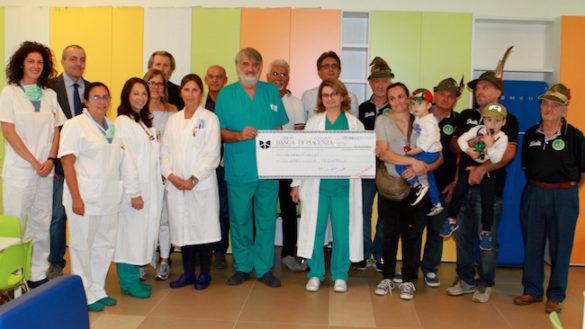 Solidarietà piacentina per l'Oncoematologia pediatrica del Maggiore in memoria del piccolo Tommaso Granelli