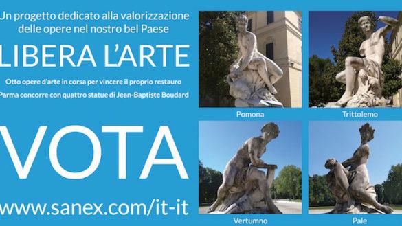 """""""Libera l'arte"""", Parma in sfida con il gruppo scultoreo di Palazzo Ducale"""