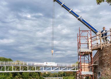 Il nuovo Ponte della Navetta prende forma: posato l'impalcato