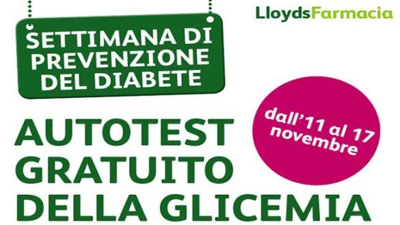 Diabete, screening gratuiti dall'11 al 17 novembre