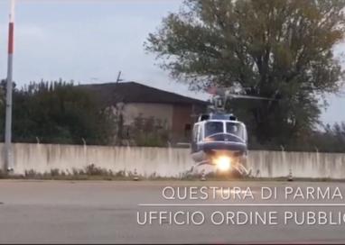 Questura, il volo del servizio Ordine Pubblico durante Parma-Roma
